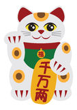 Maneki Neko Beckoning Cat Vector Illustration Royalty Free Stock Photo