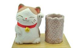 Maneki Neko cat. Show lucky concept Stock Photo