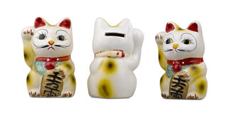 Maneki Neko ( clipping path ) Royalty Free Stock Images