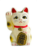 Maneki Neko front Isolate. Cat lucky Maneki Neko front Isolate stock image
