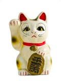Maneki Neko front Isolate. Cat lucky Maneki Neko front Isolate Stock Image