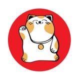 Maneki Neko icon Royalty Free Stock Photo