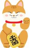 Maneki Neko Japanese Figurine Cat Stockbilder