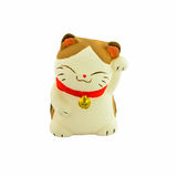 Maneki Neko lucky cat (mascot cat of Japan) Stock Photography