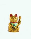 Maneki-neko que dá boas-vindas ao gato Fotografia de Stock Royalty Free