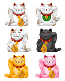 Maneki neko set Stock Photos