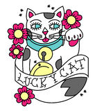 Maneki Neko Tattoo Stock Photos