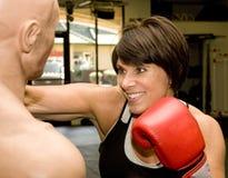 manekiny boksu dojrzała kobieta Fotografia Royalty Free