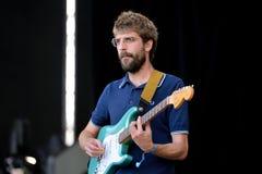 Manel流行音乐从卡塔龙尼亚的摇滚乐队在音乐会执行在节日de les Arts 图库摄影