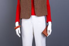 Manequim com roupa e acessórios da forma Fotografia de Stock Royalty Free