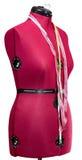 Manequim do alfaiate - manequim do vermelho da figura fêmea Imagem de Stock Royalty Free
