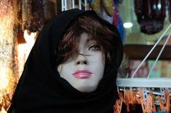 Manequim no vestido árabe tradicional imagem de stock