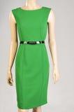 Manequim verde do vestido Fotografia de Stock