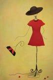Manequim vermelho ilustração royalty free