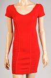 Manequim vermelho da fêmea do vestido Fotografia de Stock