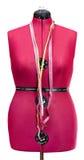 Manequim vermelho do alfaiate - manequim fêmea isolado Foto de Stock