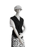 Manequin in white cap black top Royalty Free Stock Photography