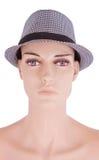 Manequins da menina no chapéu isolado Fotografia de Stock Royalty Free