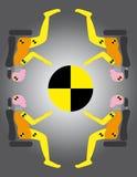 Manequins do teste do ruído elétrico ilustração do vetor