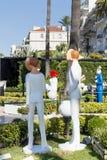 manequins em Cannes, França imagens de stock royalty free