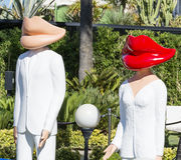 manequins em Cannes, França fotografia de stock