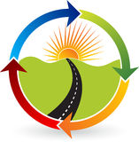 Manera al logotipo del poder del objetivo stock de ilustración
