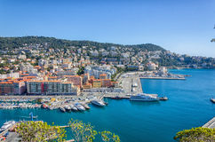 Manera al mar abierto del puerto de Niza Fotografía de archivo