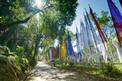 Manera al staue de Samdruptse, Sikkim, la India Foto de archivo libre de regalías