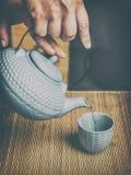 Manera asiática del tiempo del té Foto de archivo libre de regalías