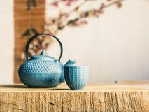 Manera asiática del tiempo del té Imágenes de archivo libres de regalías