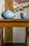 Manera asiática del tiempo del té Foto de archivo
