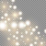 Manera con las chispas, color de oro de la estrella Fotos de archivo