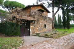 Manera de Appian, Roma Foto de archivo