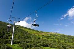Manera de cable en el parque nacional Tatras inferior - eslovaco Imágenes de archivo libres de regalías