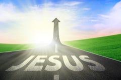Manera de camino a Jesús ilustración del vector