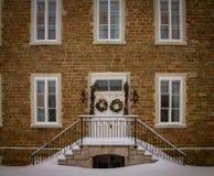 Manera de la entrada en la ciudad de Quebec foto de archivo libre de regalías