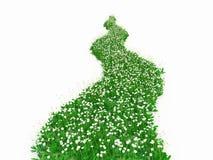 Manera de la hierba verde ilustración del vector
