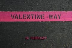 Manera de la tarjeta del día de San Valentín Fotografía de archivo