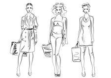 Manera de las mujeres Ilustración del Vector