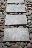 Manera de piedra del paseo Fotografía de archivo