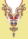 Manera del bordado del Neckline Fotografía de archivo libre de regalías