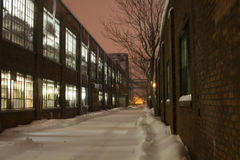 Manera del callejón del invierno Imagenes de archivo
