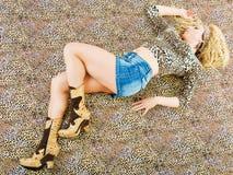 Manera del leopardo fotografía de archivo libre de regalías