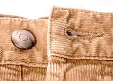 Manera   detalle de los pantalones Imagenes de archivo