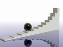 Manera difícil hacia arriba. Imagen de archivo