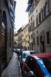 Manera estrecha del aliado en Florence Italy imágenes de archivo libres de regalías