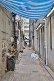 Manera estrecha del callejón en el impostor Shui Po Fotografía de archivo libre de regalías