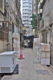 Manera estrecha del callejón en el impostor Shui Po Foto de archivo