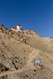 Manera hasta el castillo de Namgyal Tsemo Foto de archivo libre de regalías