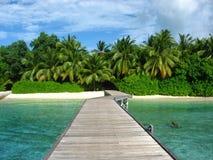 Manera a la isla Fotografía de archivo